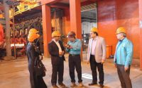 بازدید از کارخانه فولاد کاوه جنوب کیش با هیئت و کارشناسان همراه